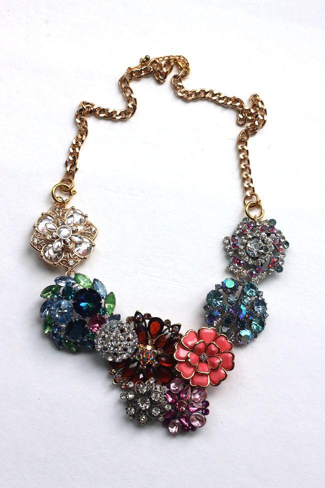 J. Crew inspired Flower  Lattice necklace - so pretty!