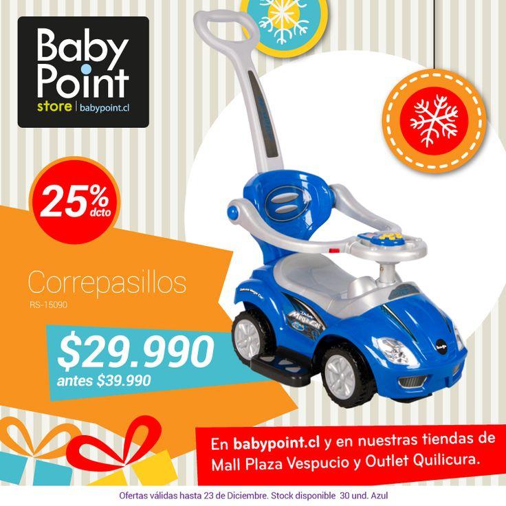 #NavidadBabyPoint 25% descuento en correpasillos BebeGlo con guiador parental ¡Entretención y seguridad! Revísalo -> bit.ly/1rX33oy