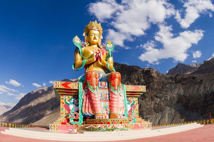 Buddha Maitreya statue in Nubra valley by Oleg Ivanov on 500px