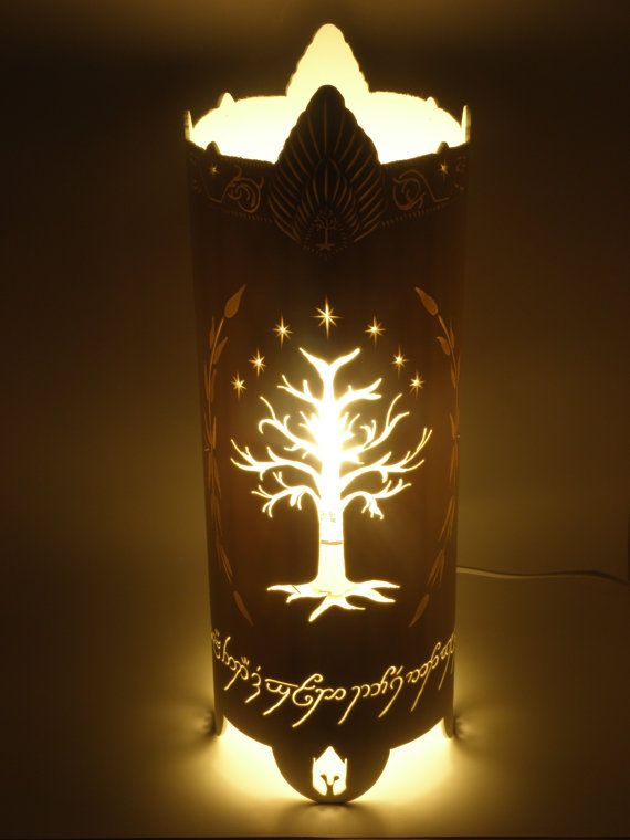 RESERVED White TREE of GONDOR inspired Lord of the Rings table lamp Housewares…