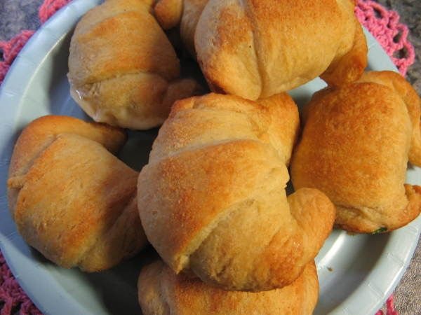 Cheese & Garlic-Filled Crescents