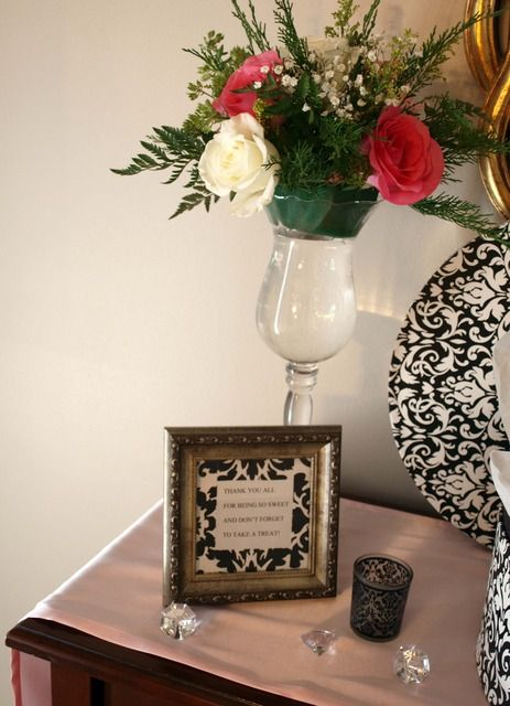 Costco Wedding Gift Ideas : damask and pink bridal shower bridal wedding shower party ideas ...
