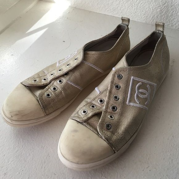 CHANEL Tennis Shoes Lost shoes laces sorry about that. CHANEL Shoes Sneakers