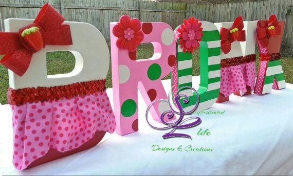 Strawberry Shortcake Letters by SophisticatedLife on Etsy