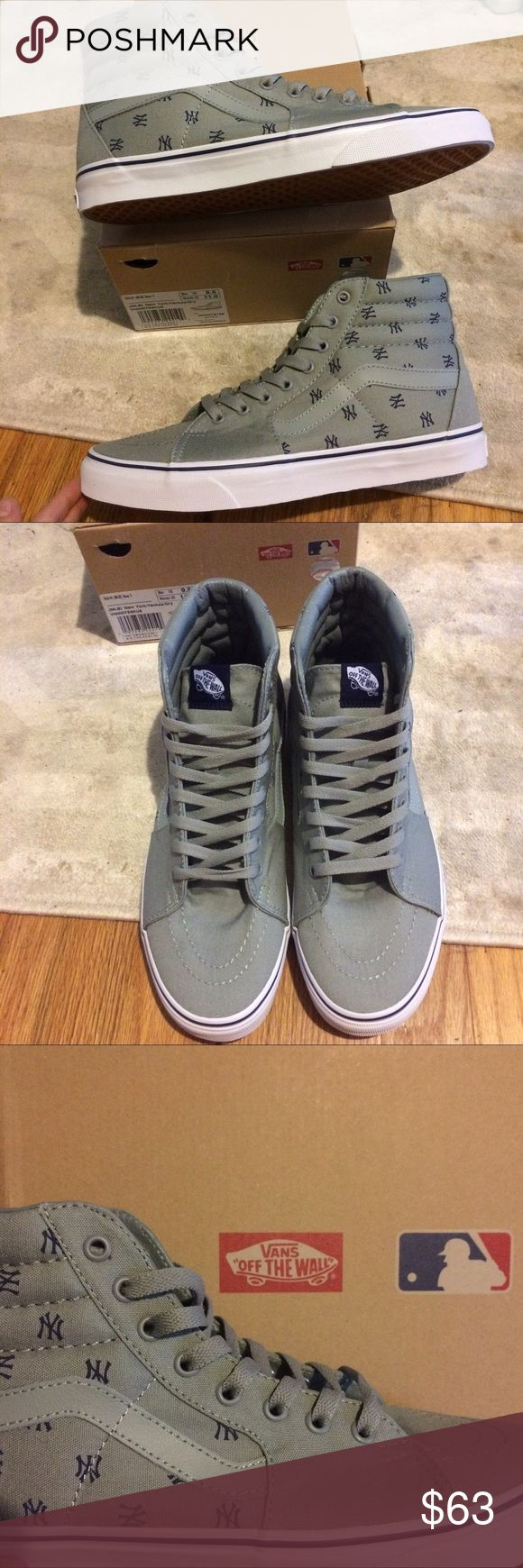 NIB MLB Vans New York Yankee Sk8-Hi top Sneakers Never worn! Great condition as pictured! Comes with the original box and two extra sets of shoe laces! **🎈💰🎈💰. *****MAKE ME AN OFFER! **please use the offer button only! Vans Shoes