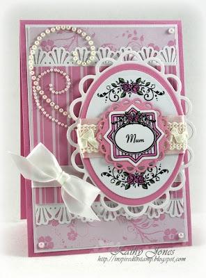 Mum Card designed by Kathy Jones using Vintage Rose Medallions