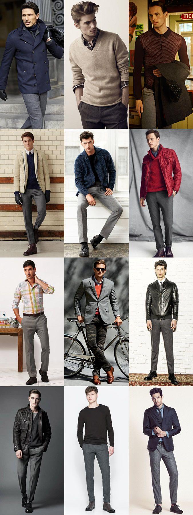 Men's Grey Suit Lookbook - Worn As Separates
