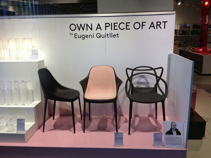 Boutique Centre Pompidou Paris. 3rd Sept - 13th Oct 2014: a shopwindow dedicated to the designer Eugeni Quitllet with elle and tabu collections in a black&pink edition