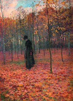 ANTONÍN SLAVÍČEK (1870-1910) In the Veltrusy park 1896