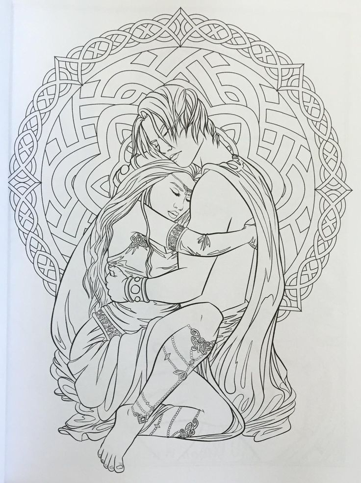 free fantasy art coloring pages - photo#28