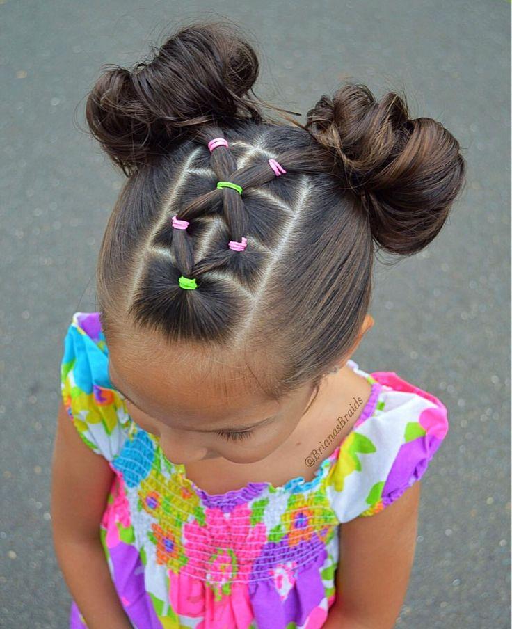 Adding some color to this rainy day. Elastic accent into messy buns. Have a great Monday . . . #braidsforlittlegirls #hairstyles_for_girls #hairideas #inspirationalbraids #hotbraidsmara #beyondtheponytail #cutehair #messybun #elastics #toddlerhair #tophairfeatures #featuremebraids #braidsbyu #ib_featureme #косыдлядевочек #прическидлядевочек #brianasbraids
