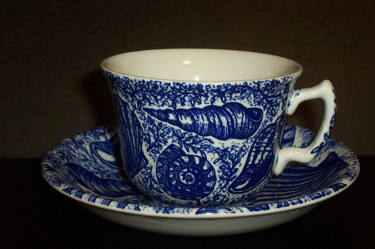 Burgess & Leigh ''Blue Shells'' cup & saucer