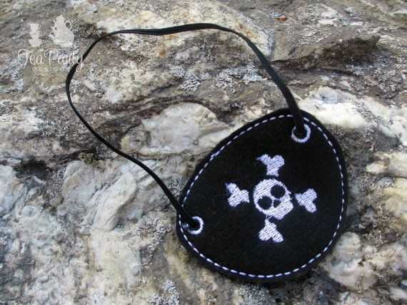 Pirate Dress Up Eye Patch by lilliannamarie on Etsy, $6.00