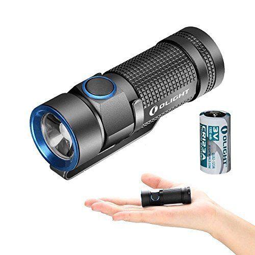 Olight® S1 Baton Lampe Torche LED Cree XM-L2 CW 3 Modes + Strobe Lampe de Poche 500lms Faisceau 110m avec Batterie Lithium 1x CR123A…