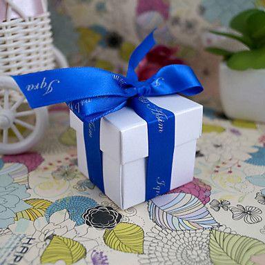 Square Favor Box In Pearl White (Set of 24) – USD $ 3.99