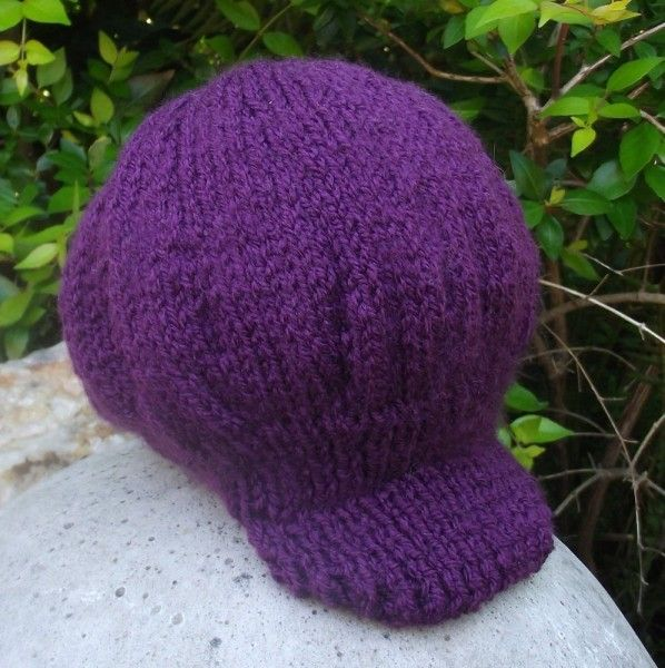 Purple Hand Knitted Kids Cap