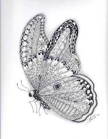 Butterfly | Zentangled Zoo