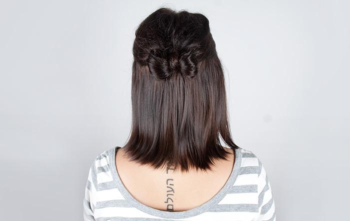 DIY cute bow in your hair / Gör det själv, söt rosettfrisyr