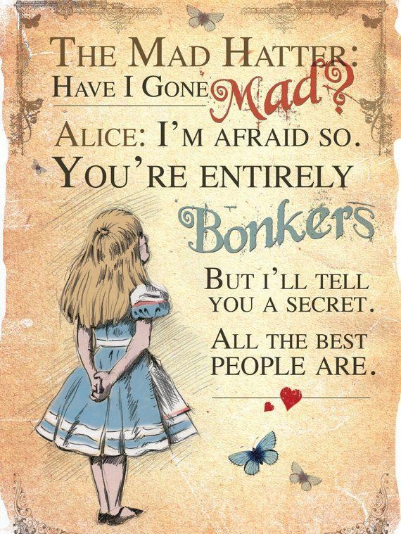 Alice im Wunderland druckbare A4-Poster-Kunst von GiraffeandCustard
