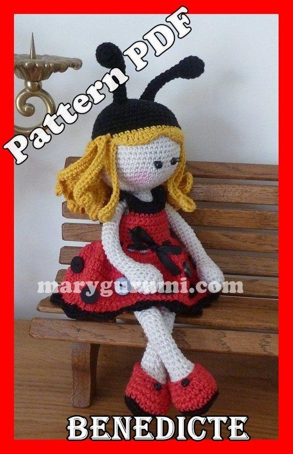 Free Crochet Doll Amigurumi Tutorial and Pattern – BuzzTMZ em 2020 ... | 883x570