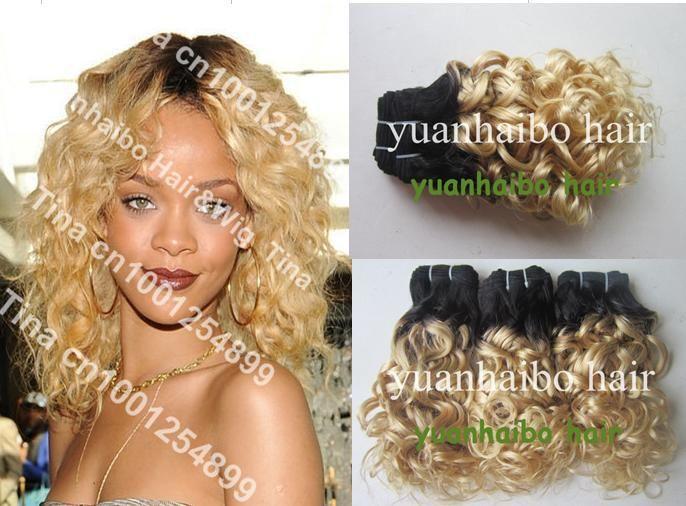 Высокое качество 6а 12-28 дюймов 3 шт./лот два тона # 1bT #613 виргинский бразильский свободная волна цветных два тона волосы соткать бесплатная доставка