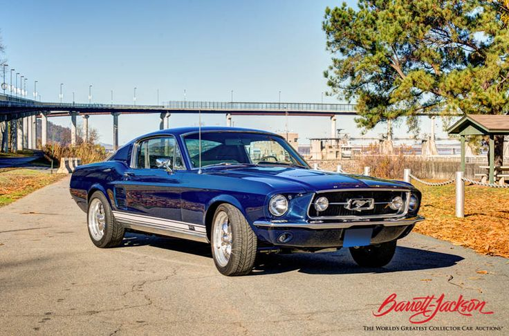 Painted in Nightmist Blue, this 1967 Ford Mustang GT
