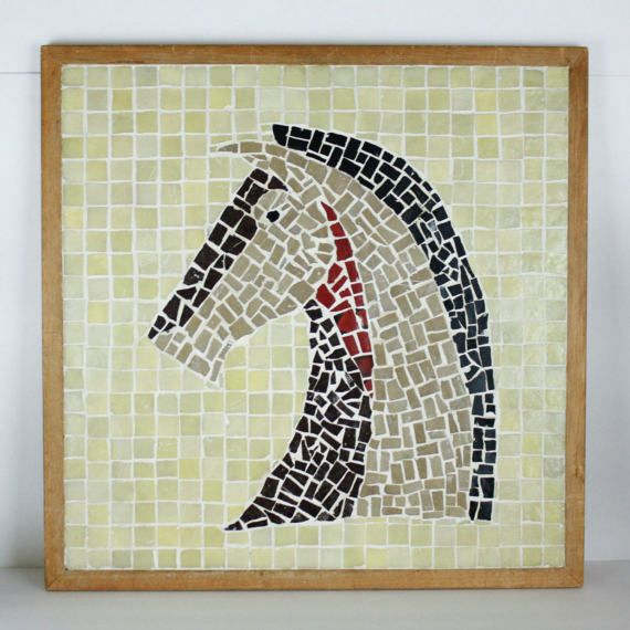 Vintage Mosaic Tile Horse Wall Art Heavy Mid Century Eclectic by Sactownpickers #Vintage #MosaicTile #Horse #WallArt #MidCentury #Eclectic