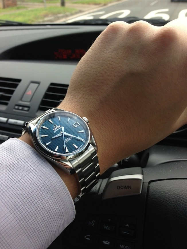 More pictures of the blue Aqua Terra 38.5mm (Skyfall watch) - Page 3#post5561580