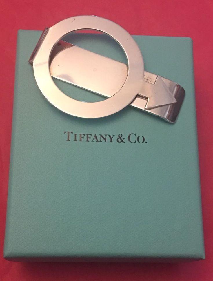 VINTAGE TIFFANY & CO STERLING SILVER MALE GENDER SYMBOL MONEY CLIP w BOX    eBay