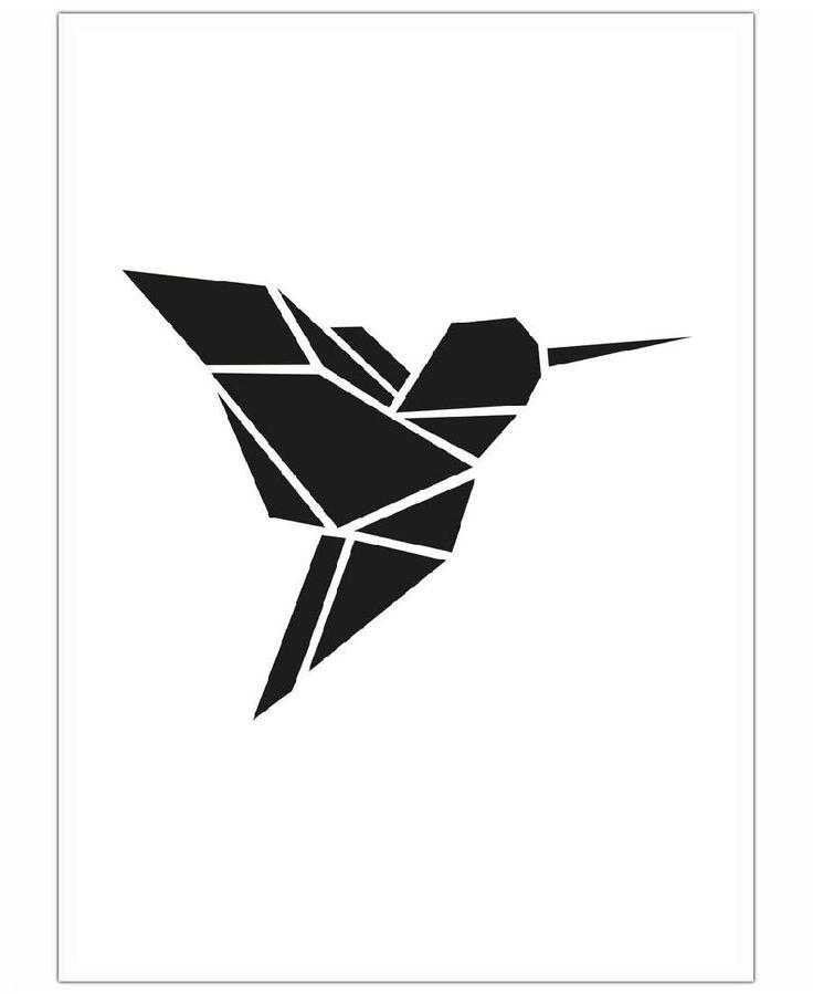 Origami Kolibri VON Eulenschnitt now on JUNIQE!