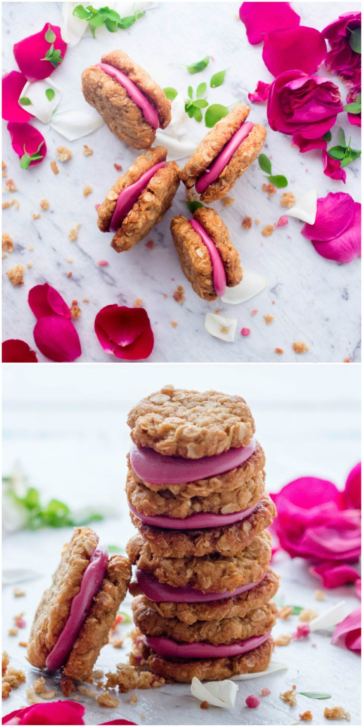How beautiful are these Anzac Berry Sandwich Cookies? Created by the very talented www.lagallette.com