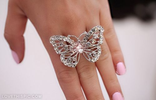 Butterfly Diamond Ring cute girl jewelry pretty rings ring accessories butterfly ring