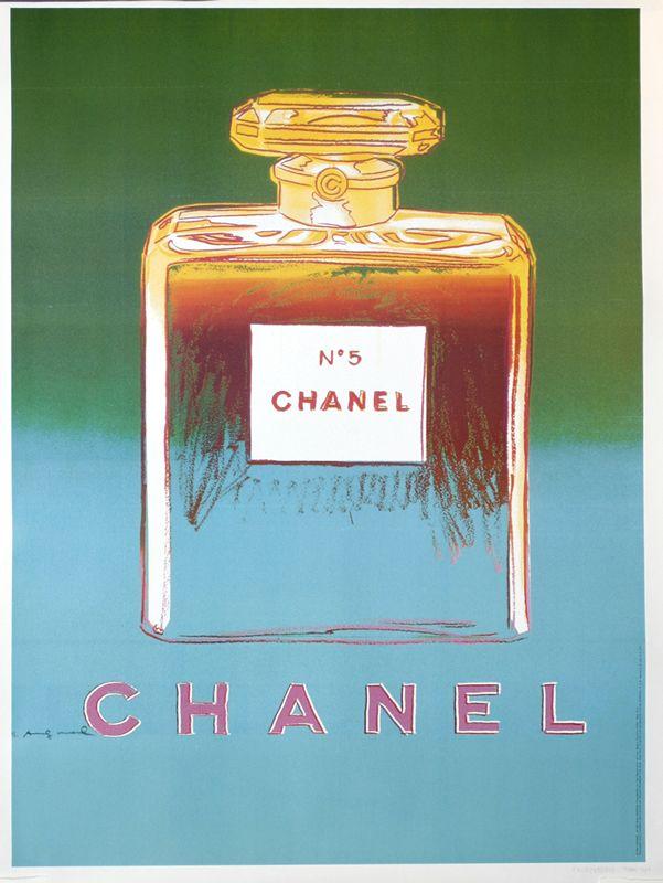 Chanel No. 5 (green/blue) by Andy Warhol (1997)   Shop original vintage posters online: www.internationalposter.com
