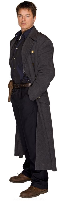 Captain Jack Harkness (John Barrowman) of Doctor Who and Torchwood