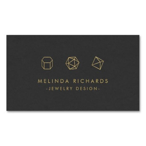 Customizable business card template for a jewelry designer or Etsy seller. Edgy and unique design is sure to stand out.