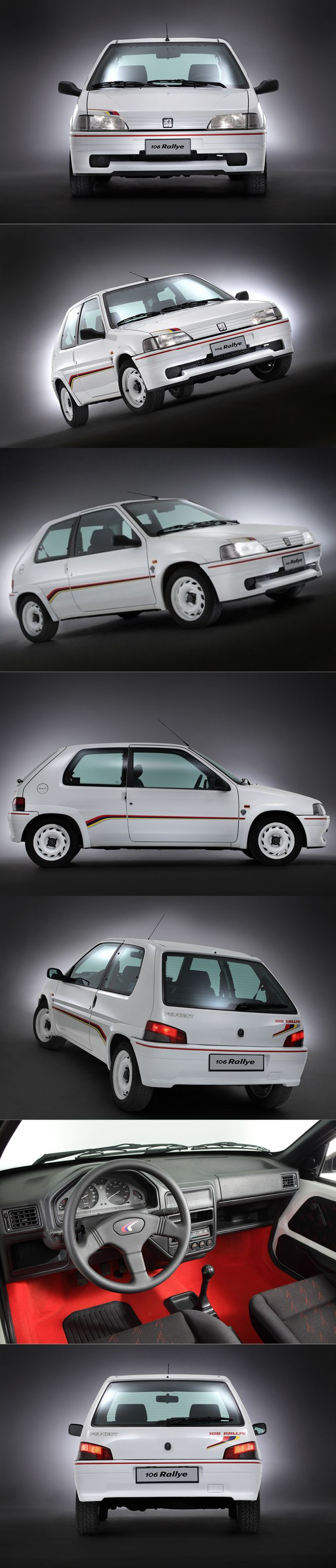 1993 Peugeot 10 Rallye / 1.3l 100hp L4 / 825kg / commemorate 106 Collect Cars followers / France / yellow red white / 17-355