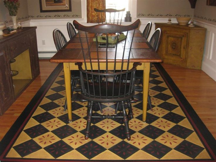 66 Best Primitive Colonial Floorcloths Images On Pinterest