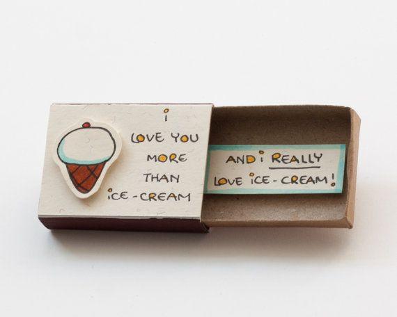 Ice cream Love Card / carta divertente per gli amanti di 3XUdesign
