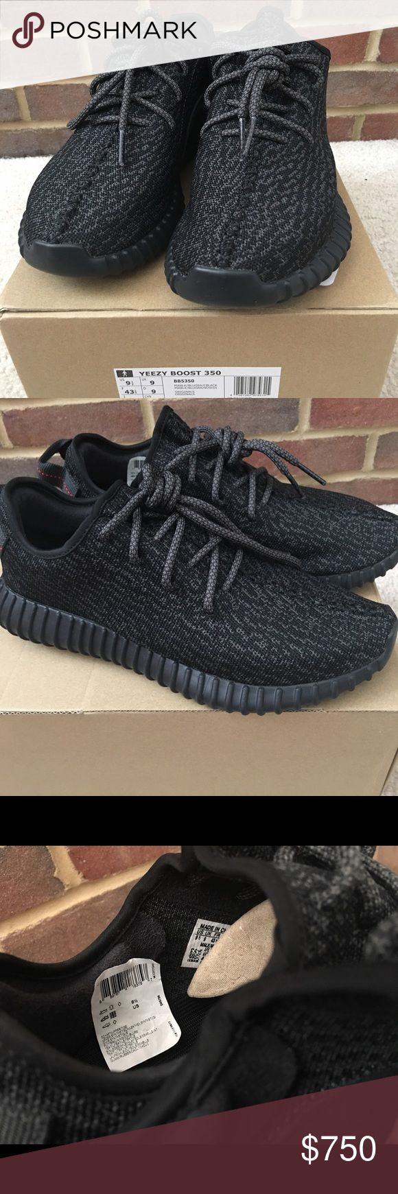Yeezy boost Pirate Black (Deadstock) Please read. Selling this wonderful pair of yeezy version 1. Wondering why I sell this? I already have zebras and oreos. I dont need this. Feel free to offer. Not accepting low offers. Thank you.   PS. The label was tear-off by my little brother. Adidas Shoes Sneakers