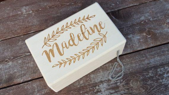 Little girls jewelry box.  Customized gift for a little girl.  by Dustyroadgurl