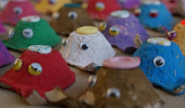 noflik nifelje: varkentjes van eierdozen