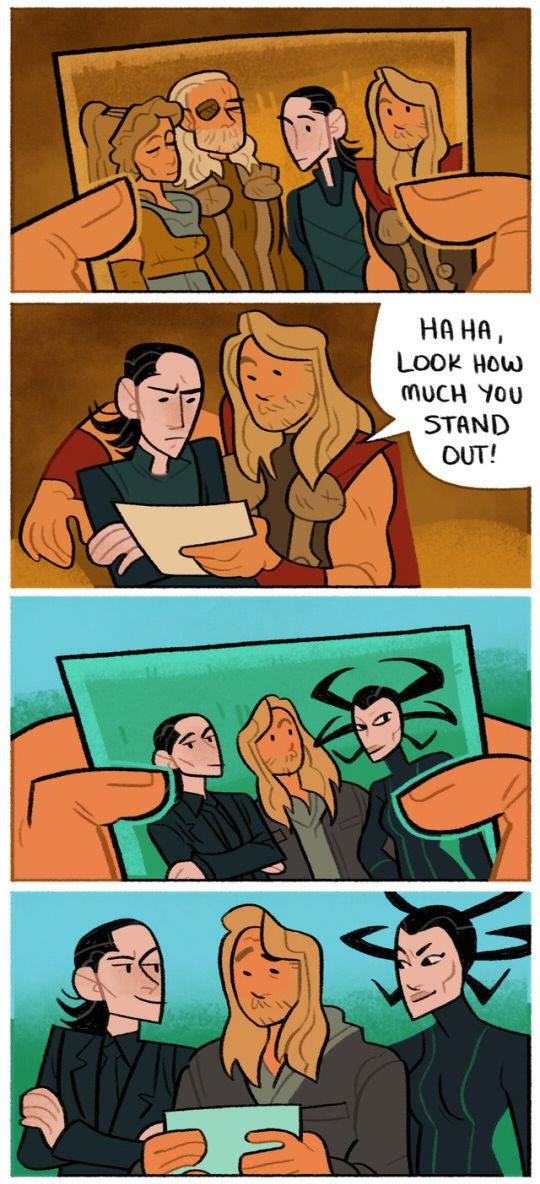 I just think that the whole thing with Hela was ODD! I think they should have made it that she was Loki's mom.