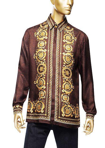 Versace | Silk Barocco Men's Shirt | Shirts | Menswear | Men | Shop at us