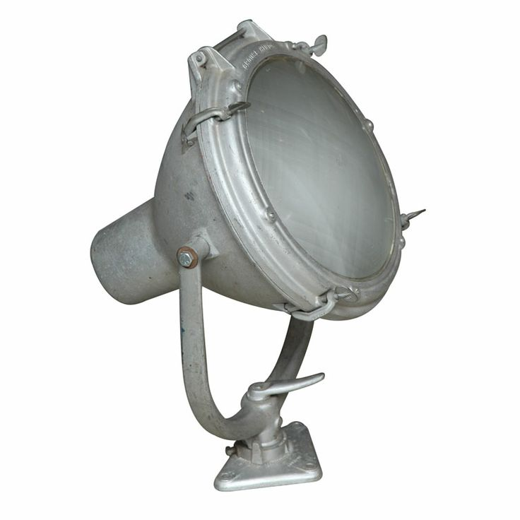 Vintage Nautical Spot Light By Crouse Hinds Usa 1930s