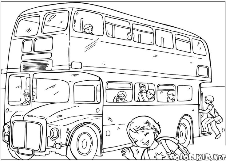 Coloring London Pages Bus UK