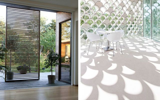 Celos as y paneles m viles como separadores de espacios for Celosia de madera para jardin