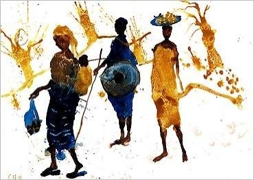 Yellow African Picture
