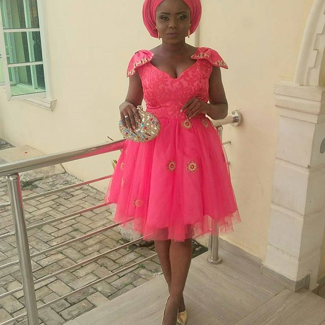Creatively Cute Aso Ebi Short Gowns You Will Love to Have...Creatively Cute Aso Ebi Short Gowns You Will Love to Have