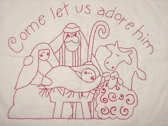 free printable nativity scene patterns | Design Patterns » Nativity ...
