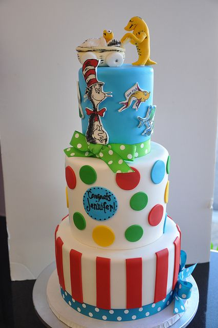 Superior This Is A Super Fun And Very Colourful Dr. Seuss Baby Shower Cake